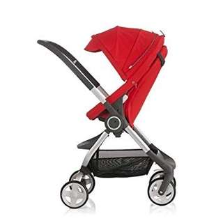 Stokke scoot stroller-red