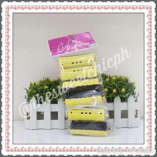 6pcs Salon Hair Curler Set YELLOW