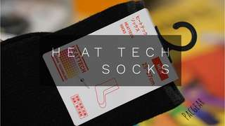 Uniqlo Heat Tech Black Thermal Socks for Men 25-27cm