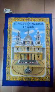 古董 St Paul Catheral Church tea towel