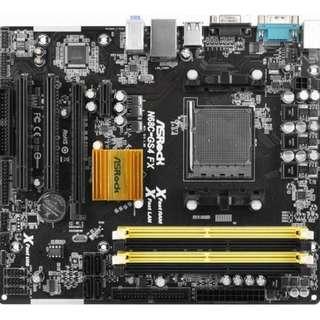 🚚 華擎N68C-GS4 FX 原廠保固內主機板、記憶體支援DDR2、DDR3(禁混插)、NVIDIA顯示晶片、附擋板