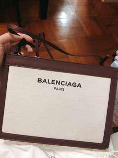 巴黎世家 Balenciaga 人氣帆布袋 棗紅色 100%real 全新