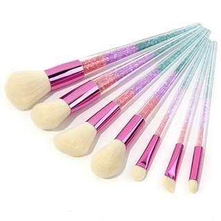Crystal Makeup Brush Set 7pcs