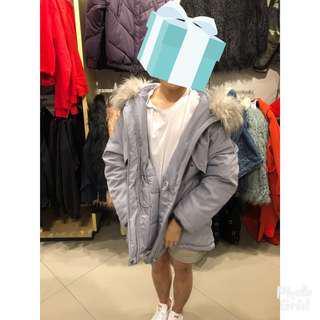 H&M Winter Grey Hoodie Jacket Brand New!