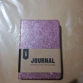Rose Gold Glitter Small notebook Journal