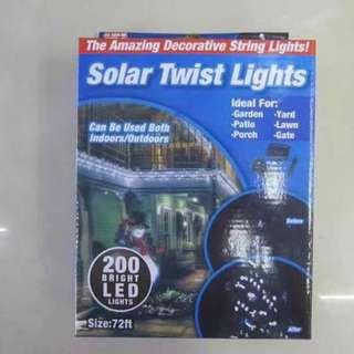Solar twist lights 72ft