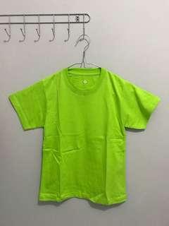 kaos anak hijau stabilo size 2