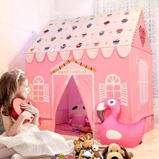 【預購】RZ - 兒童:韓棉磨毛+活性印染+PVC支架*遊戲屋/遊戲帳篷(尺寸:93*123*140cm/重量:3.5KG)_免運。