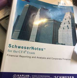 CFA level 2 notes Hardcopy 2016 + Softcopy 2018