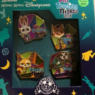Pin Trading Nights 2018 Box set  Pin  Zootopia 迪士尼 徽章 Disney Pin