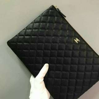 Chanel O Case Caviar