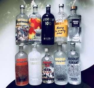 Absolut Vodka Ltd Edn / Assorted Flavours