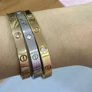 Cartier Bangle with Stone (Large)
