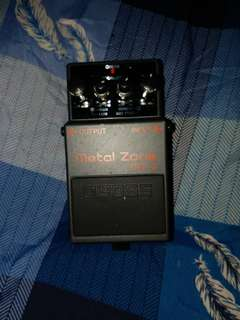 Metalzone2 normally 100% with box original
