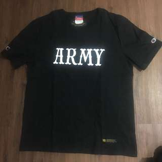 Neighborhood x Madness ARMY Black tees