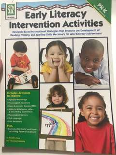 Early Literacy Intervention Activities Book