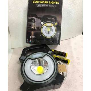 cob work lights micro usb charging