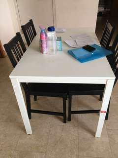 Ikea table and 4 chairs for sale