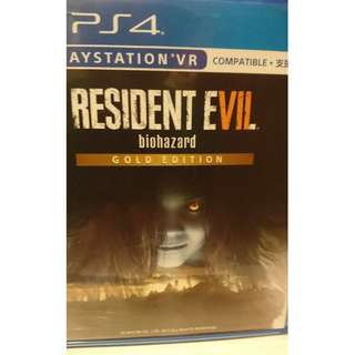 PS 4 RESIDENT EVIL 7 (BIOHAZARD 7) GOLD EDITION
