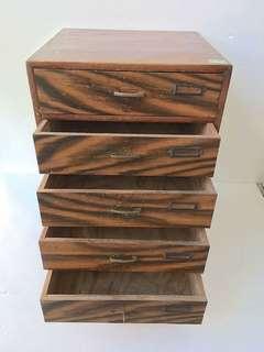 【swallow燕子二手懷舊傢俱】日本製 大正時代 五抽櫃 收納櫃 實木 [1801087]