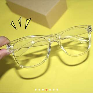 🚚 韓國 原宿透明復古鏡框眼鏡
