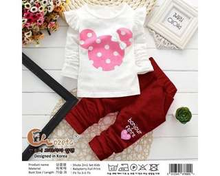 Baju Anak St Kd Shuta Maroon/Pink