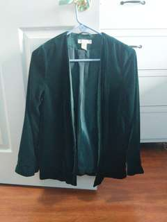 Velvet Green Blazer