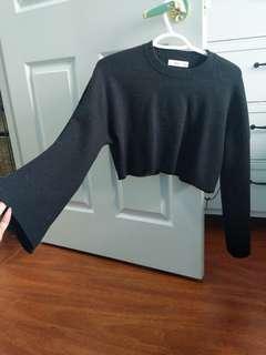 Zara Bell Sleeve Cropped Sweater
