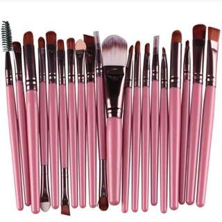 20 pcs brush set pink