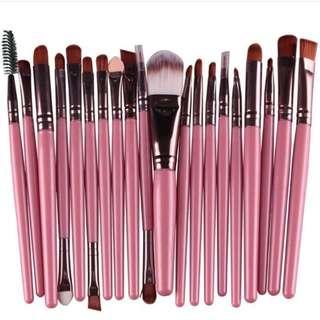 20 pcs brush set pink