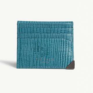 TED BAKER Lizard-embossed leather card holder