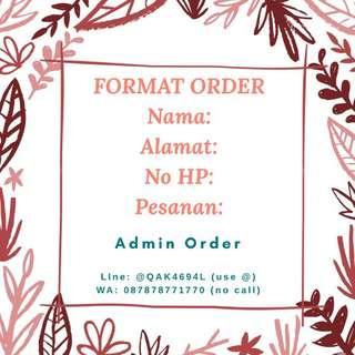 FORMAT ORDER