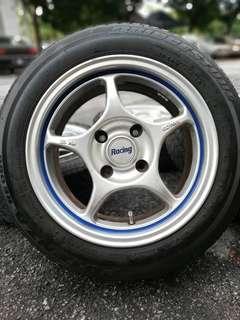 Enkei rpo1 15 inch sports rim proton iriz tyre 70%. * betul kasi you jimat *