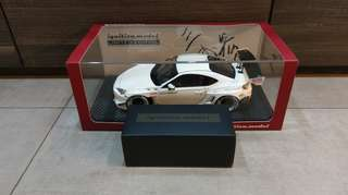 1/18 Ignition Model Pandem Toyota 86 V3 With Mr. Miura Figurine (White)