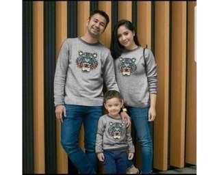 Baju Couple Cp Kenzo Family Grey