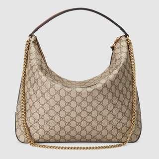 Gucci Hobo shoulder bag pvc genuine inner suede leather 新款 上膊包 袋 名牌 not of Louis vuitton Prada  miu miu
