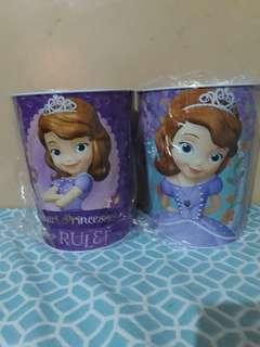 Princess Sofia tin trash bin
