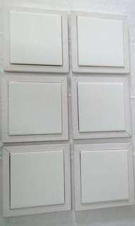 Set of 6 framed tile hot plate / pot stand