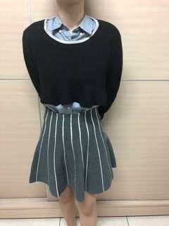 🚚 針織高腰短裙