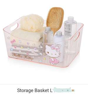 Hello kitty Storage basket clear small&large