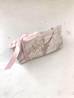 Marble gift box wedding favor door gift present DIY