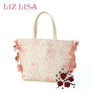 95%新 Liz Lisa 蝴蝶結大容量手提包