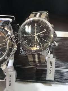 新款Seiko男裝手錶 父親節佳品
