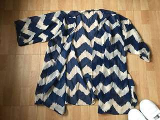 Chevron Blue Cover Up