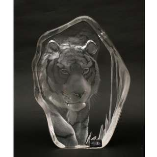 Mats Jonasson Full Lead Crystal Tiger