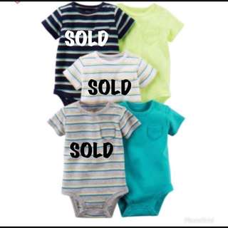 🚚 *6M* Carter's Short Sleeve Bodysuits For Baby Boy #CarouPay