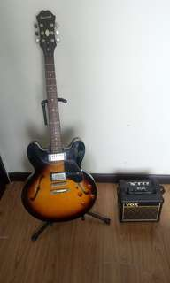 Epiphone Dot (Sunburst) + Vox mini 3