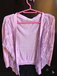 Knitted purple blazer