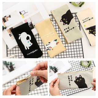 🐱🐈 BN INSTOCKS Assorted Cats Oxford Cloth Pencil Case Bag