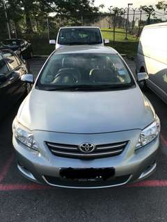 Car Rental, Toyota Altis 1.6L Daily, Weekends, Weekly & Monthly.